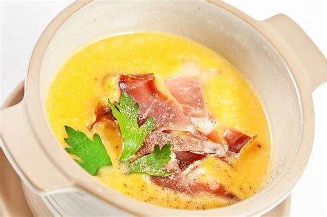 Ham With Pumpkin Mash France Lait