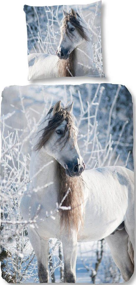 bettwaesche white horse good morning mit pferde motiv