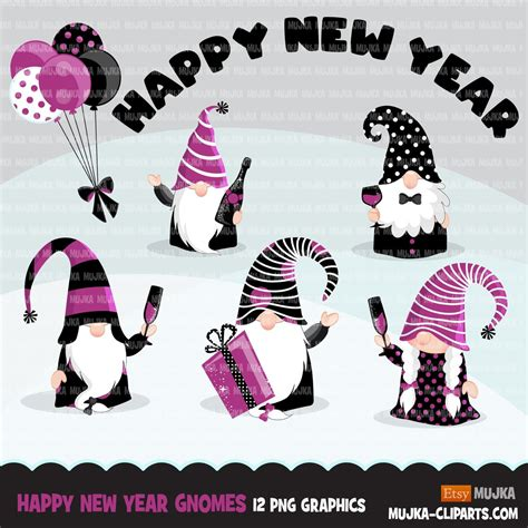 Freesvg.org offers free vector images in svg format with creative commons 0 license (public domain). Gnome Clipart, happy New year graphics, celebrating gnomes ...
