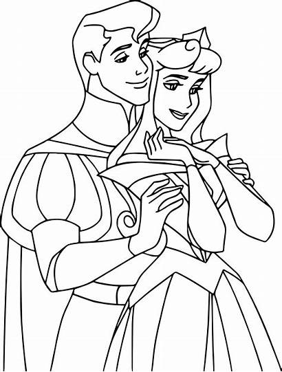 Aurora Coloring Princess Pages Disney Phillip Sleeping