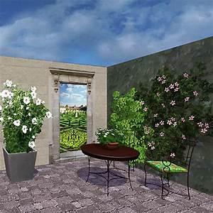 Decoration Pour Mur Exterieur : d co murale toiles pour l 39 ext rieur balcon jardin la ~ Dailycaller-alerts.com Idées de Décoration