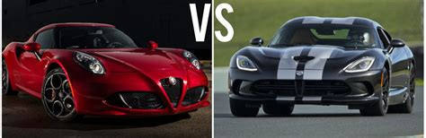 2015 Alfa Romeo 4c Vs 2015 Dodge Viper
