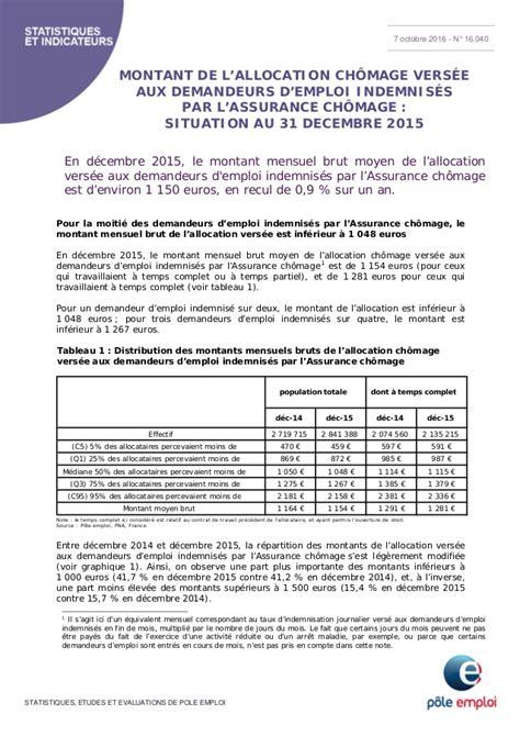 montant de l allocation ch 244 mage vers 233 e aux demandeurs d emploi indemn