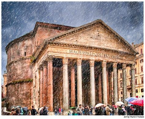 Ancient Roman Pantheon In The Rain Architecture Art Print Math Wallpaper Golden Find Free HD for Desktop [pastnedes.tk]