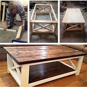 build a rustic x coffee table with free easy plans home With how to build a rustic coffee table