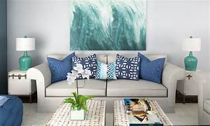 Beach decor 3 online interior designer rooms decorilla for Interior decoration items for living room