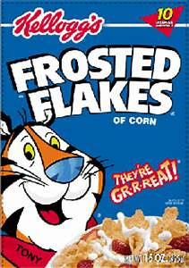 And now we feeling great like describing Frosted Flakes ...