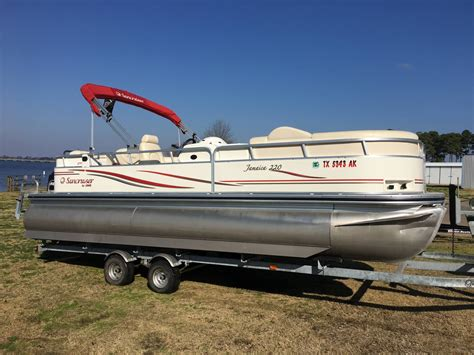 Used Pontoon Boat For Sale Dallas by Used Pontoon Boats For Sale In Boats