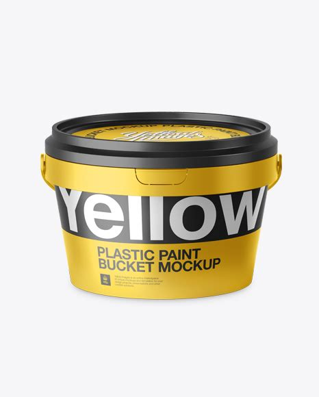 20 striking packaging designs you have to see. Metallic Paint Bucket Mockup - Front view (High-Angle Shot ...