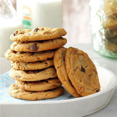 peanut butter recipes chippy peanut butter cookies recipe taste of home