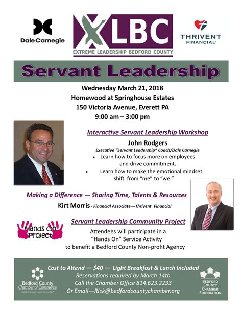 xlbc session  explore servant leadership bedford