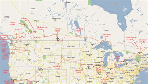 map  canada    travel information