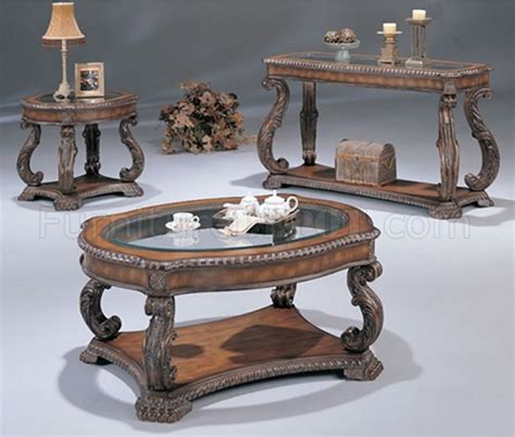 antique glass table ls antique cherry traditional coffee table with glass inlays