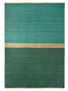 tapis 39field39 chanvre vert bleu 170x250cm brita With tapis vert et bleu
