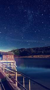 mm11-star-shiny-lake-blue-sky-space-boat-flare-wallpaper