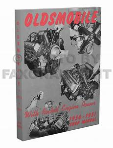 1950 1951 Oldsmobile Repair Shop Manual Olds 76 88 98