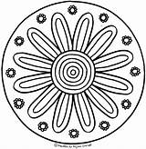 Flower Kinder Tangled Mandala Therapy Mandalas Neu Coloring sketch template