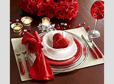 Place Setting Dress Table Romantic Dinner Valentine