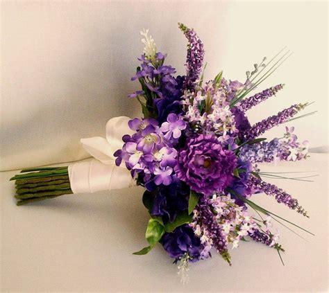 spring wedding flowers lilacs bridal bouquet purple