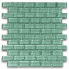 Sage Green 1x2 Mini Glass Subway Tile For Backsplashes