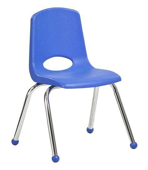 ecr4kids 14 quot stack chair chrome legs blue standard