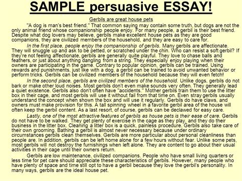 Persuasive Essay Student Models by Persuasive Essay Exles 12th Grade