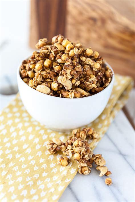 salted cashew caramel corn granola