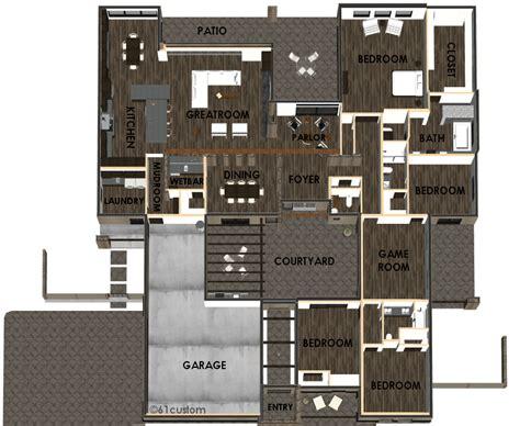 modern courtyard house plan