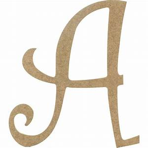 14quot decorative wooden curly letter a ab2145 With curly q wooden letters
