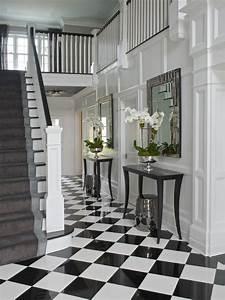 Checkered, Tiles, -, Transitional, -, Entrance, Foyer