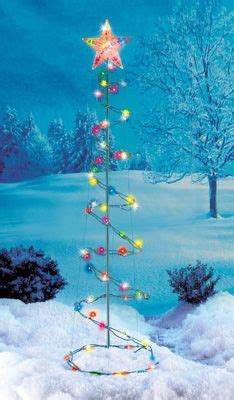lighted spiral christmas tree yard art decoration