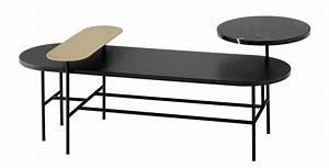 Table Basse Palettes : table basse palette jh7 3 plateaux noir or ~ Melissatoandfro.com Idées de Décoration