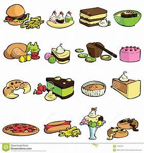 Food and sweet vector stock vector. Image of card, cute ...