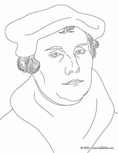 Luther Martin Coloring Pages King Protestant Reformation