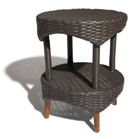 strathwood cypress all weather wicker bistro table brown