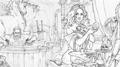 Image Result For The Witcher Adult Coloring Book Art