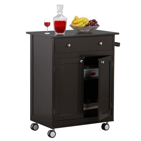 Rattan kitchen coffee table tables. Yaheetech Rolling Wood Kitchen Cart With Drawer Storage Cabinet, Coffee - Walmart.com