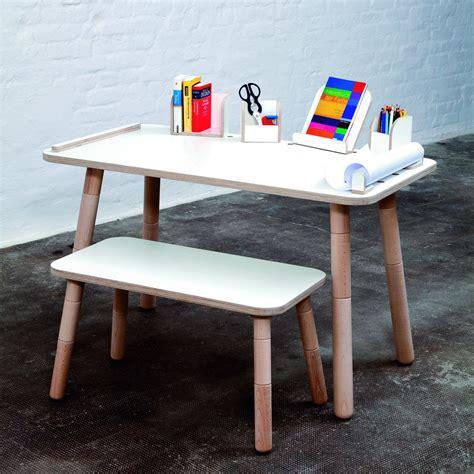 kindertisch mit bank set kindertisch und bank growing table wei 223 design kinderm 246 bel