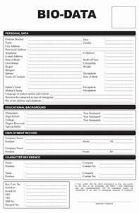 bio data form philippines copyrighted With biodata format