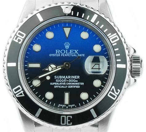 Blue Dive Watches - rolex submariner 16610 custom blue stainless