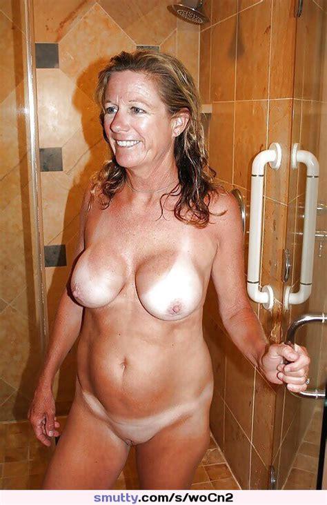 Blonde Milf Shower Fullfrontal Implants Housewife
