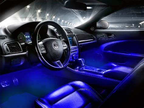 led car lights interior interior led underdash lighting kit 4pc blue interior