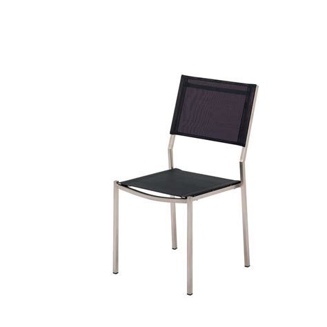 luxury outdoor stainless steel dining chair