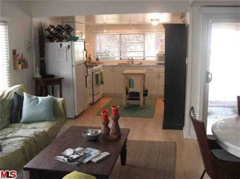 Interior Of Vintage Mobile Home In Malibu  Upward