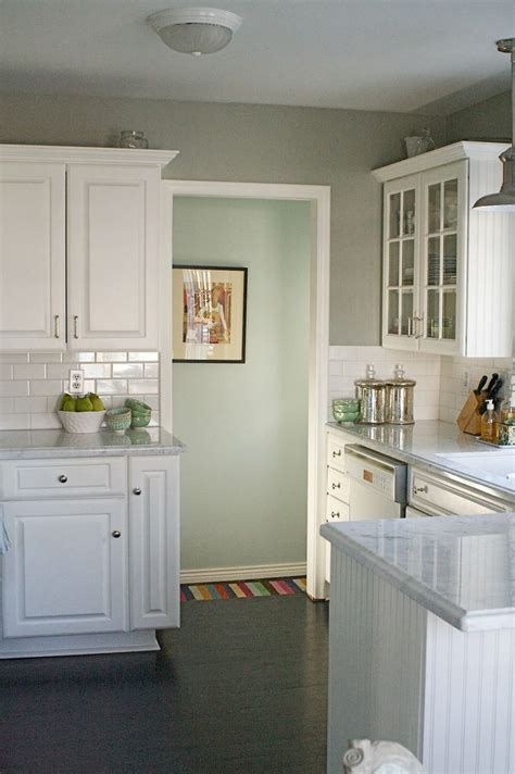 grey kitchen walls with white cabinets how the paints colors for the kitchen gray the 8364