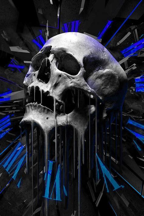 schmelzen totenkopf handy logo kostenlos hintergrundbild