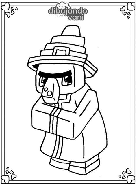 Dibujo de Bruja de Minecraft para imprimir y colorear