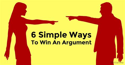argument win ways simple