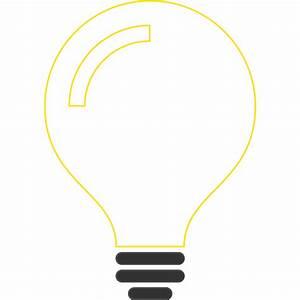Light Bulb Idea Icon Clipart - Design Droide