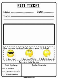 25 best ideas about exit tickets on pinterest classroom With classroom exit ticket template